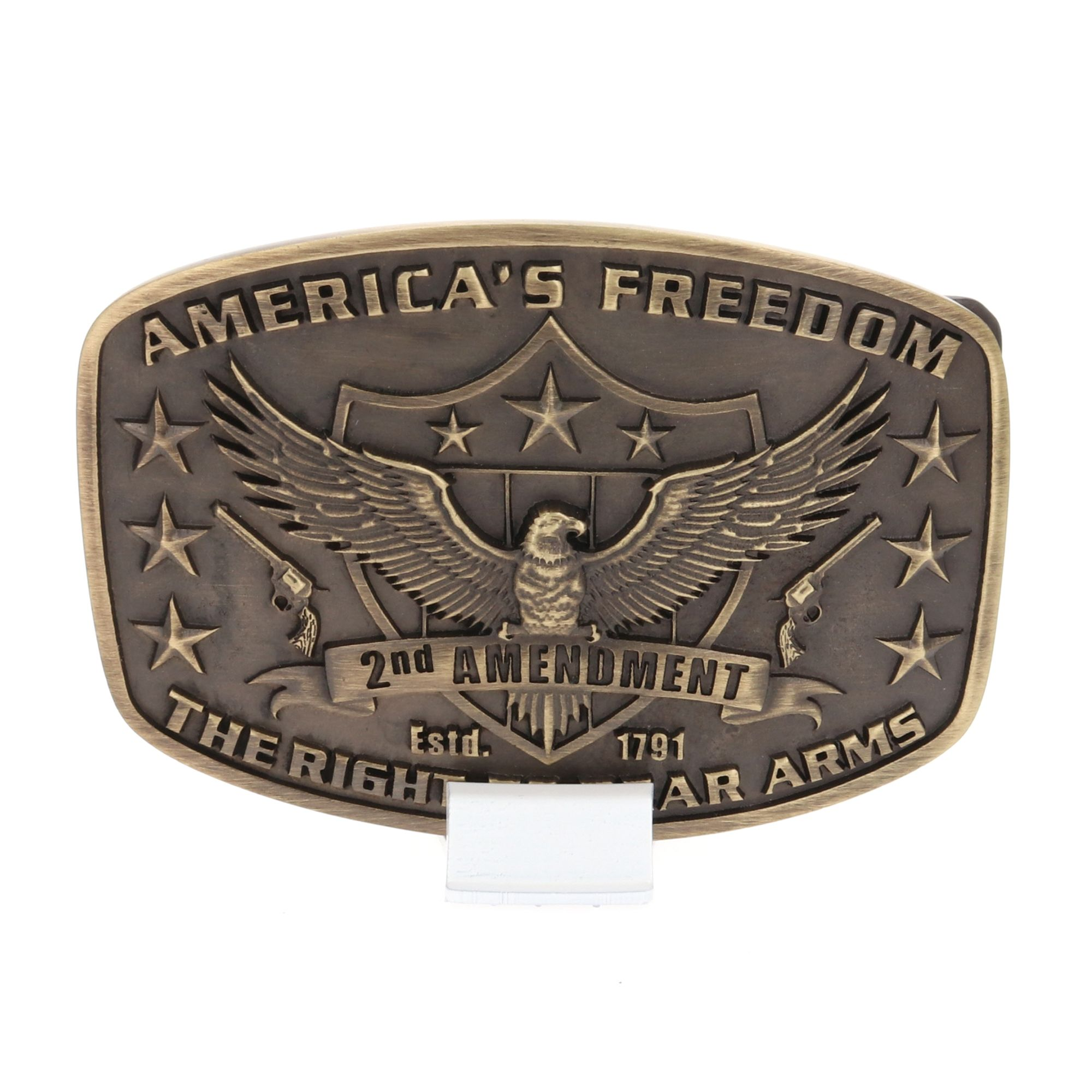 2nd Amendment Heritage Attitude Buckle