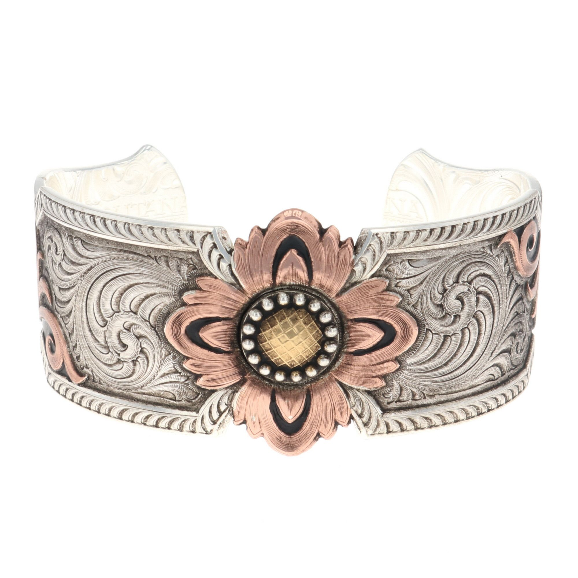 Country Sunshine Flower Cuff Bracelet
