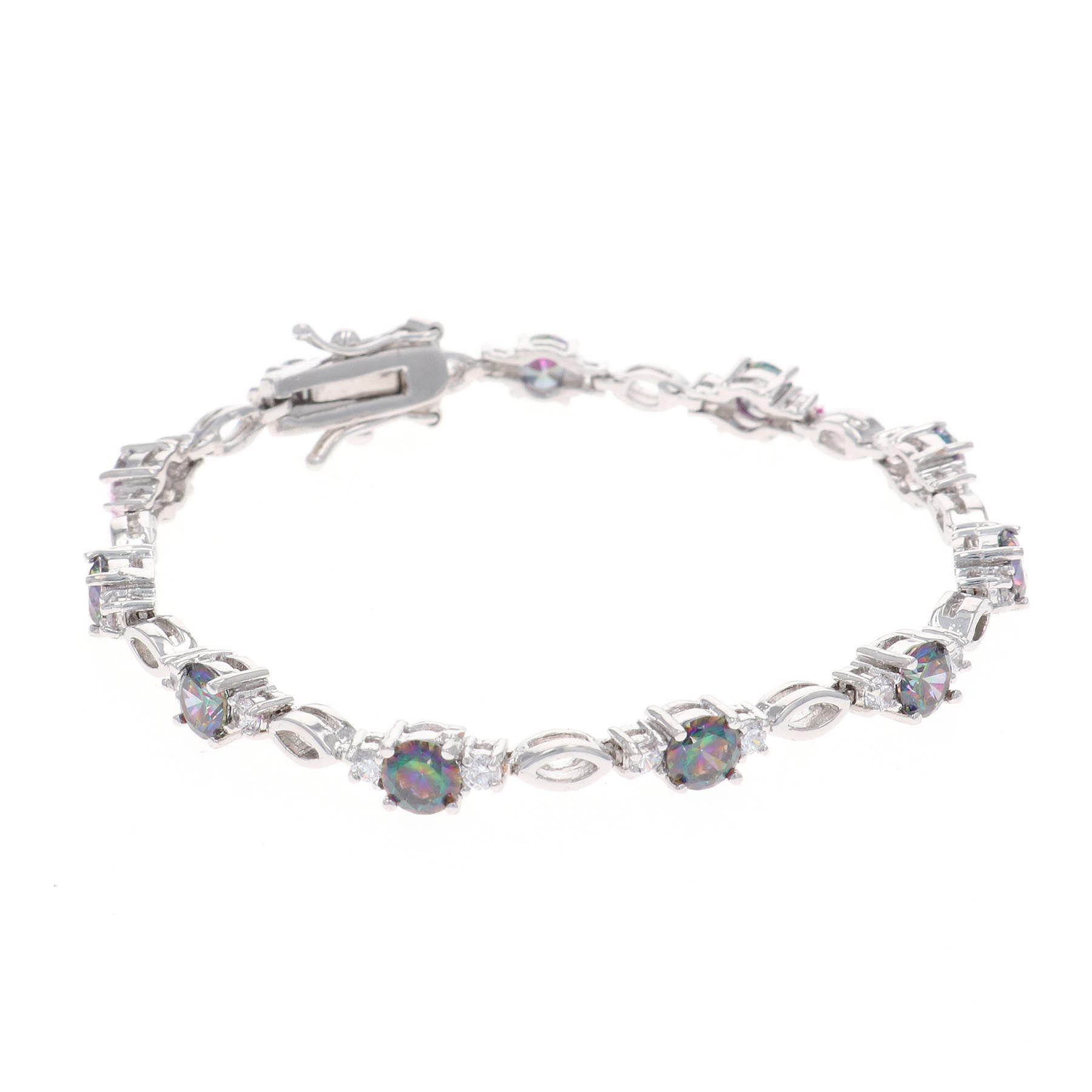 Northern Lights Skip Stone Bracelet