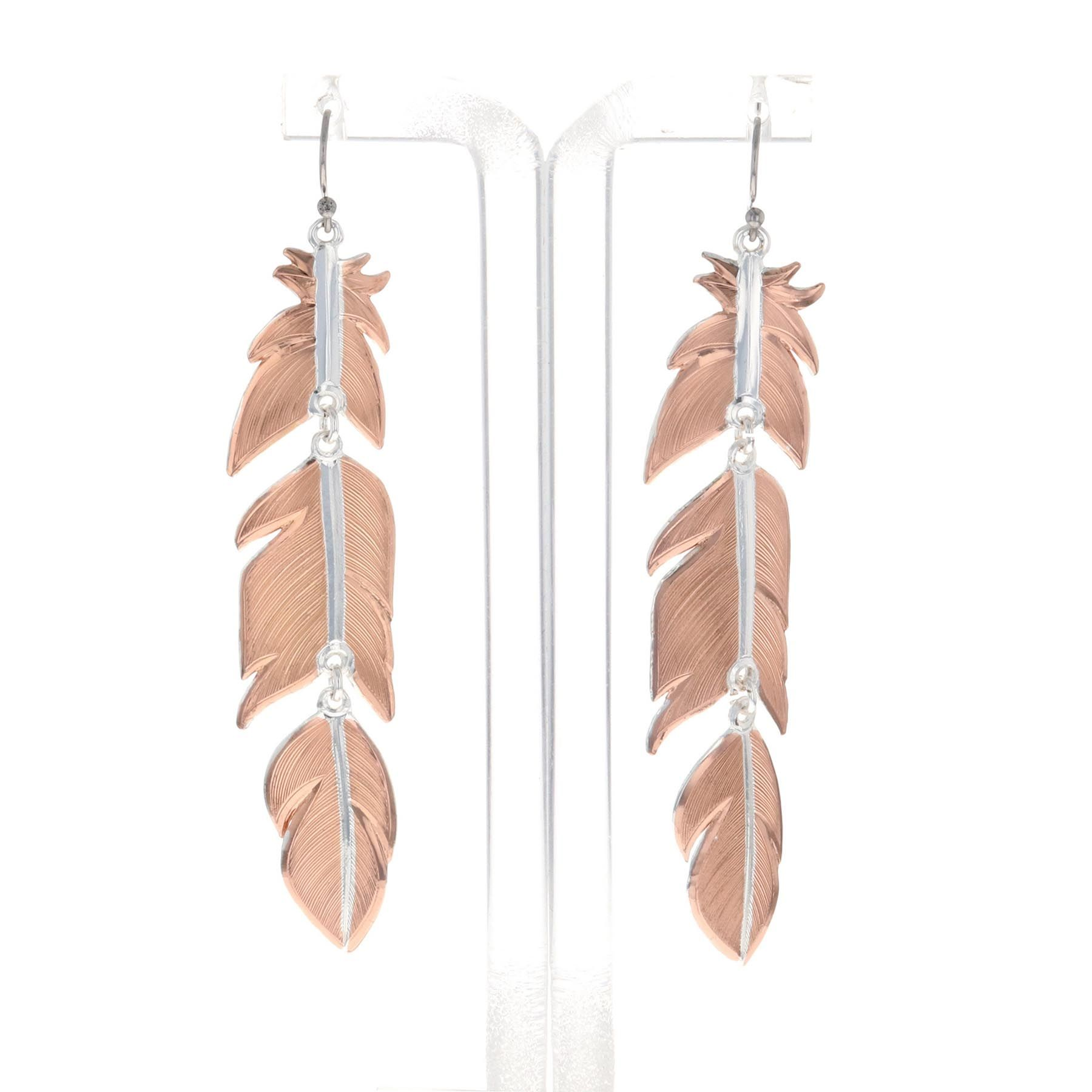 Sunlit Plume Feather Earrings