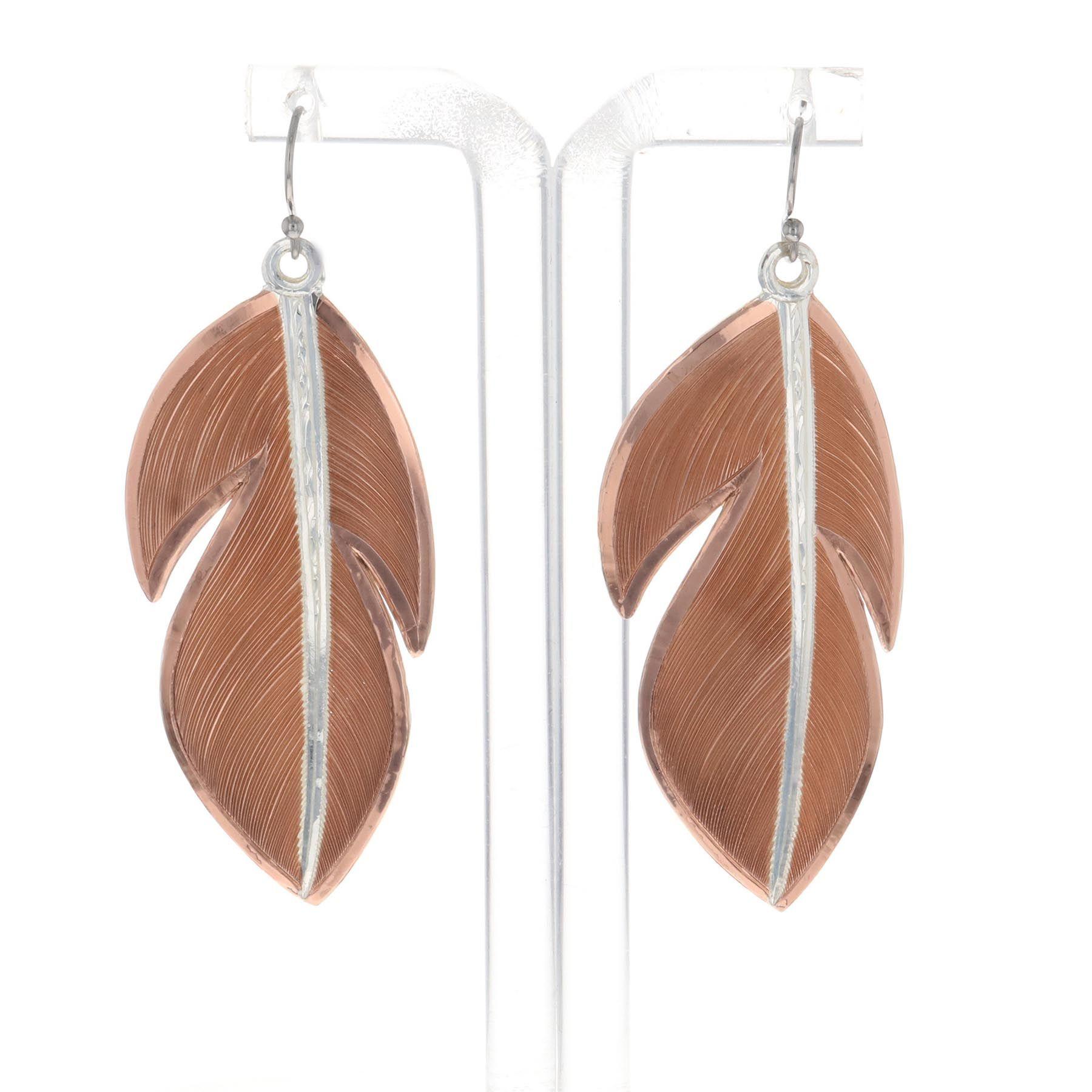 Sunlit Floating Feather Earrings