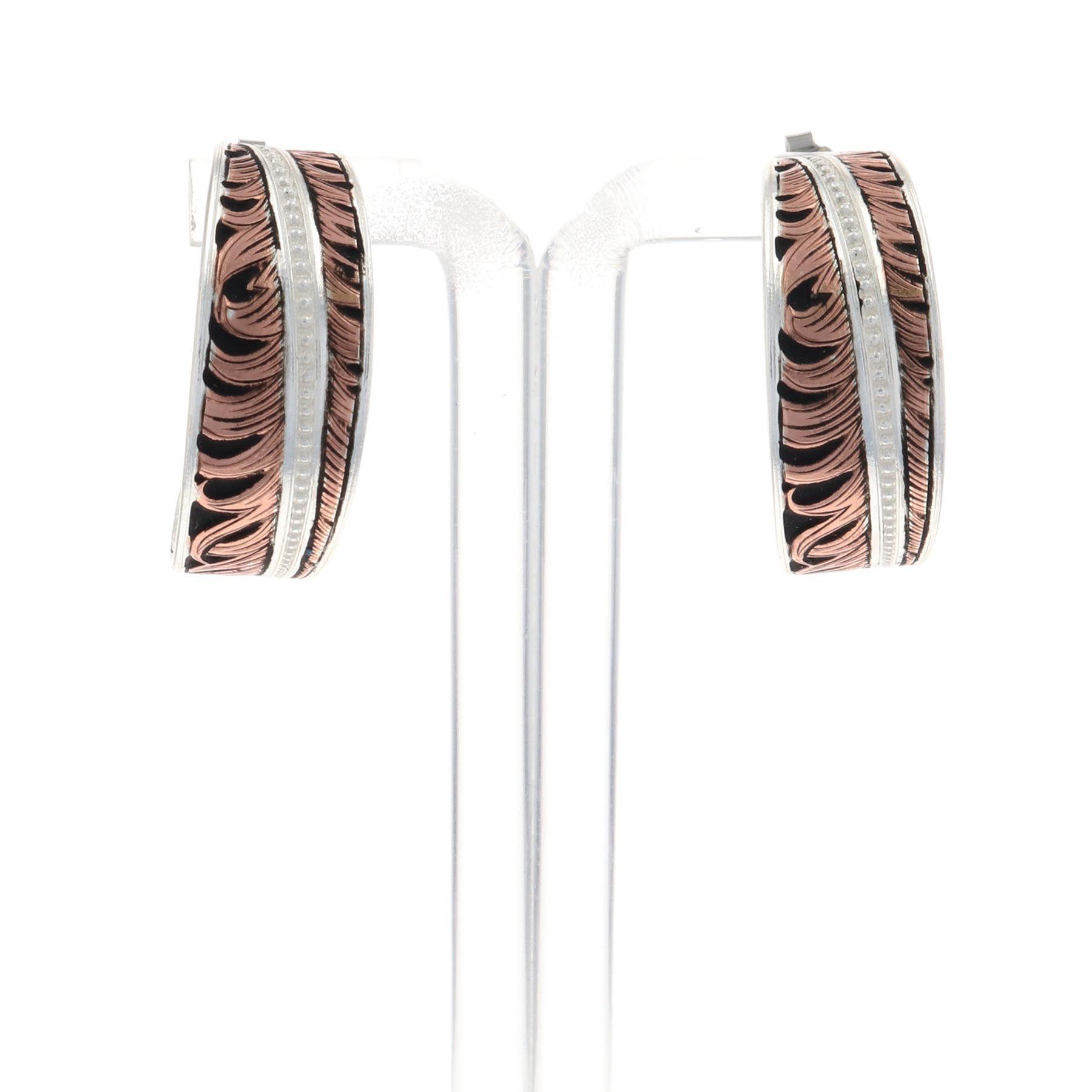 Hope's Feather Hoop Earrings