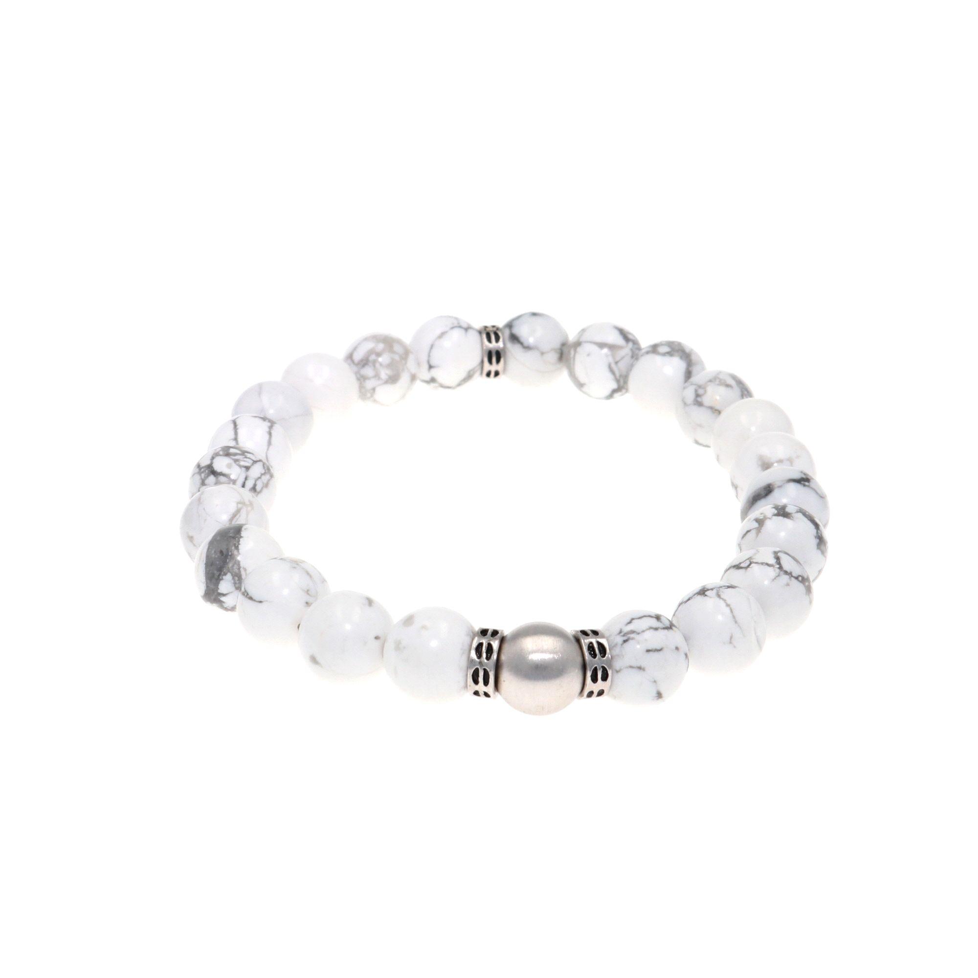 Quiet Snow Triple Strand Howlite Bracelets