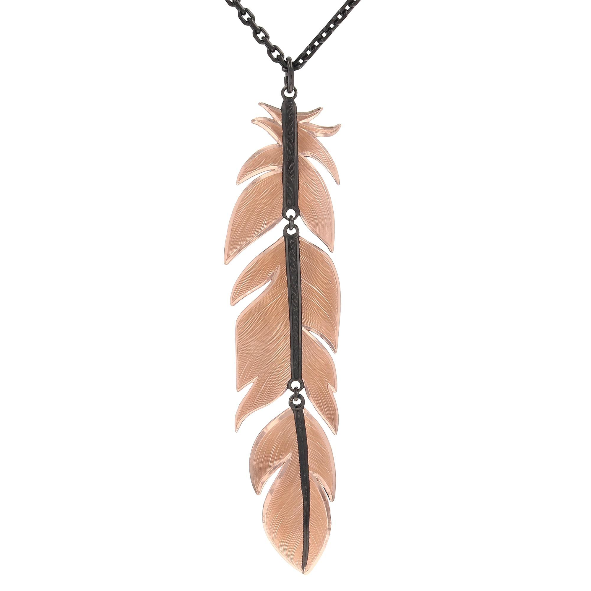 Nighthawk Feather Necklace