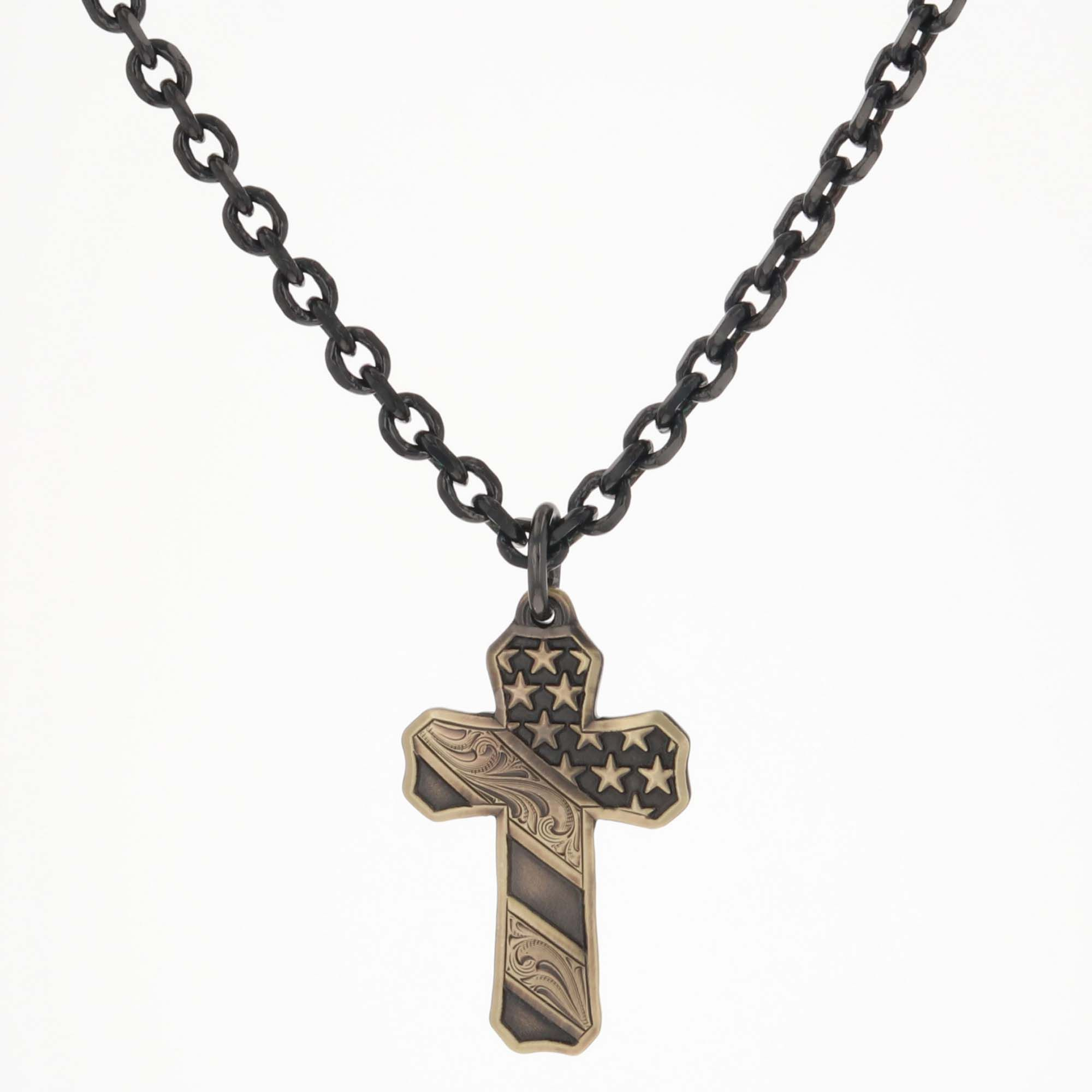 Faded Glory Cross Necklace