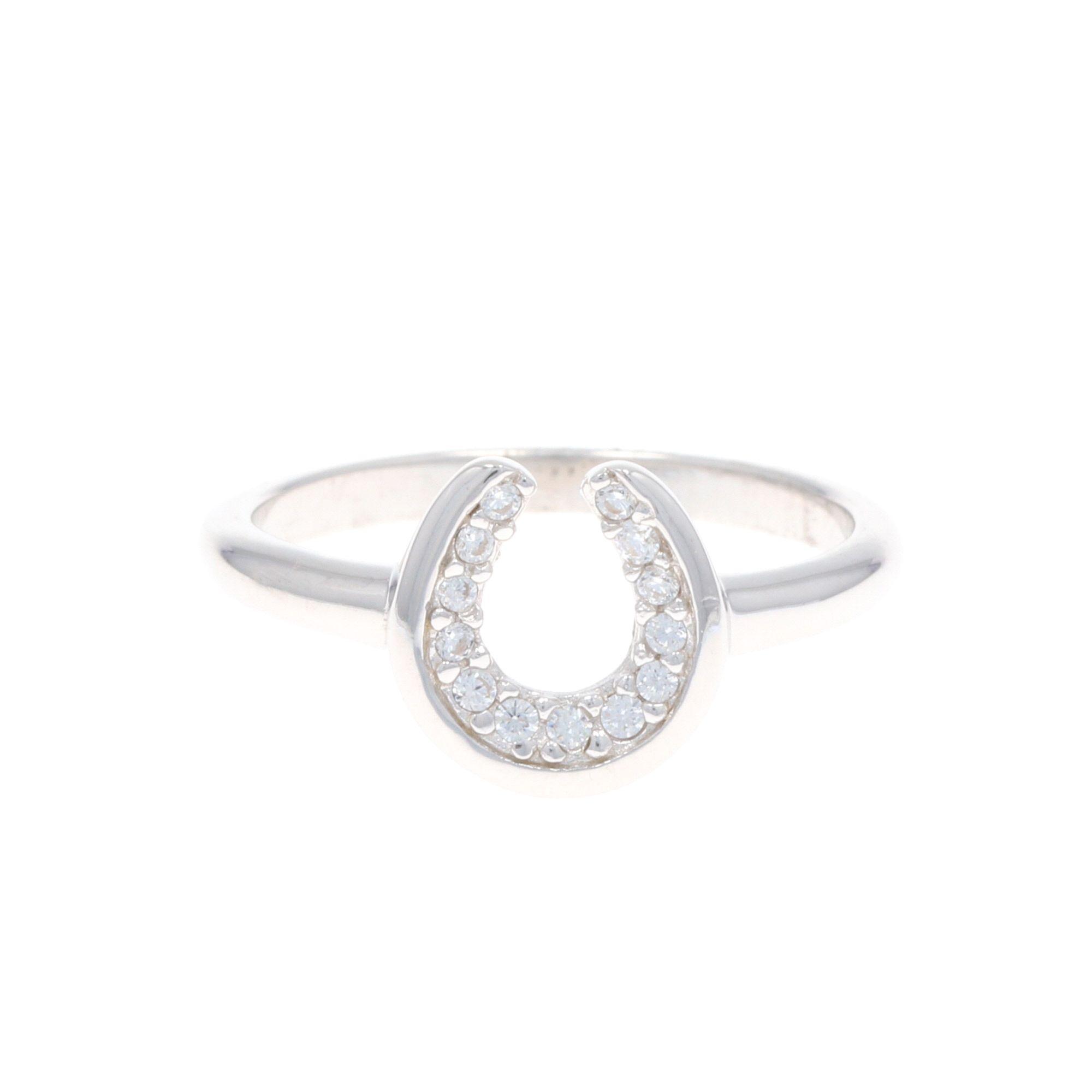 Horseshoe Sparkle Ring