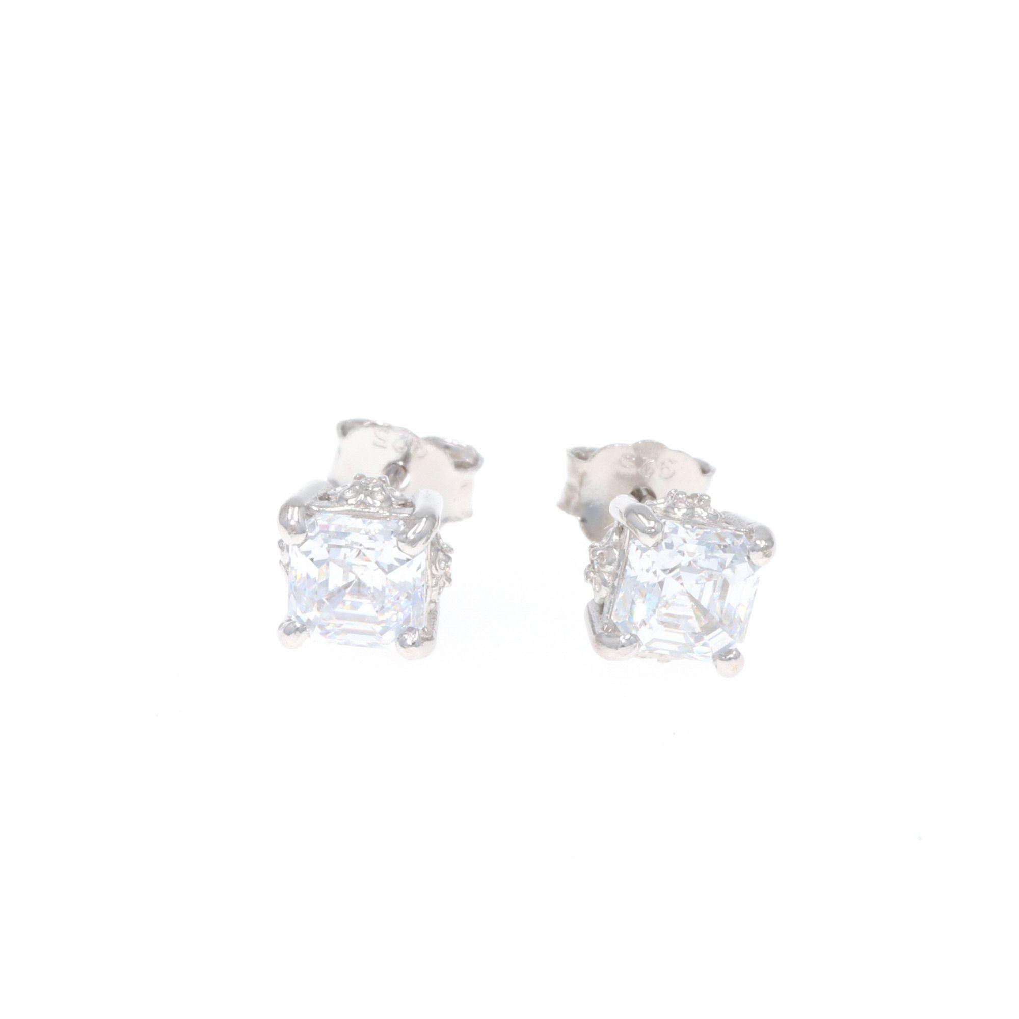 Sterling Lane Wild Rose Solitaire Earrings